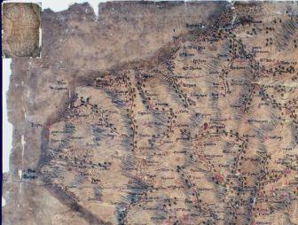 Carta geografica del Vibonese di fine 400